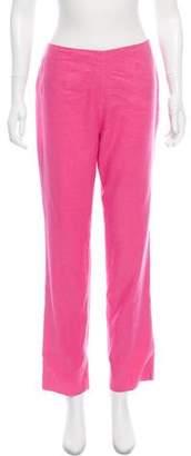 Ralph Lauren High-Rise Linen-Blend Pants