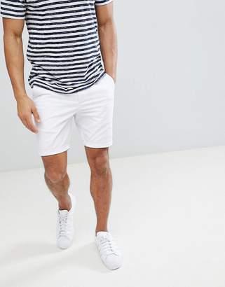 Asos DESIGN Super Skinny Chino Shorts In White