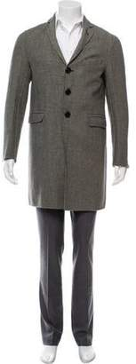 DSQUARED2 Checkered Wool Overcoat