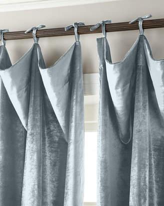"""Parker 6009 108""""L Tie-Top Velvet Curtain"""