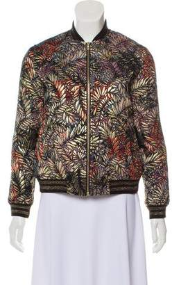 BA&SH Patterned Bomber Jacket