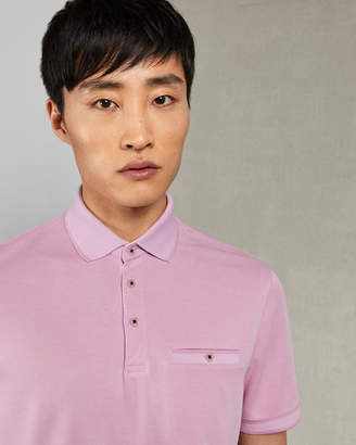 Ted Baker FROG Flat knit polo shirt