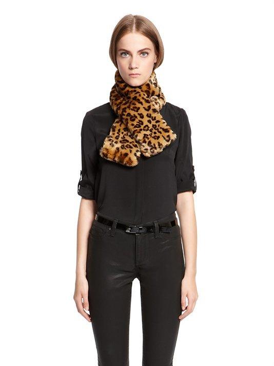 DKNY Faux Fur Short Pull Thru Scarf