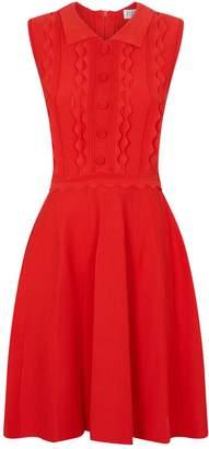 Claudie Pierlot Scalloped Flared Dress