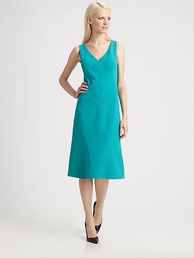 Michael Kors Wool Asymmetrical Panel Dress