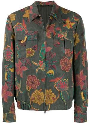 Etro printed shirt jacket