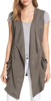 Women's Caslon Drape Front Utility Vest $69 thestylecure.com
