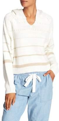Line Stripe Knit Hoodie