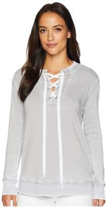 Allen Allen Lace-Up Sweatshirt Women's Sweatshirt