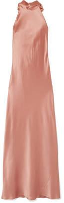 Galvan - Silk-satin Maxi Dress - Pink