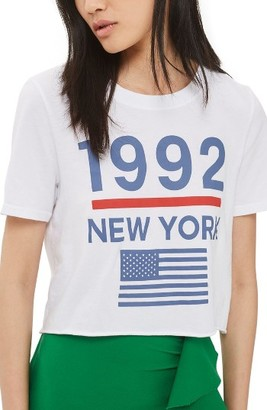 Women's Topshop 1992 New York Crop Tee $28 thestylecure.com