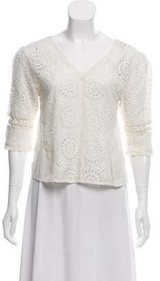 LoveShackFancy Long Sleeve Crochet Top w/ Tags