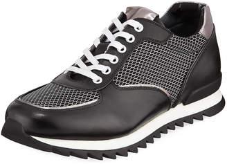 Karl Lagerfeld Paris Men's Jogger Mesh-Trim Sneakers