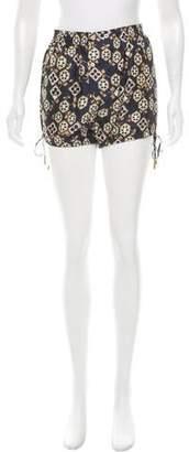 DSQUARED2 Silk High-Rise Shorts