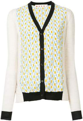 Marni v-neck patterned cardigan