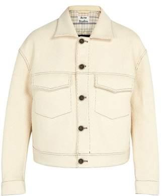 Acne Studios Cropped Cotton Blend Jacket - Mens - White