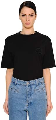 Loewe Oversized Cotton Jersey T-Shirt W/ Logo