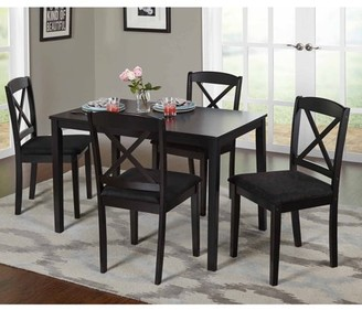 TMS Mason 5-Piece Cross Back Dining Set, Multiple Colors
