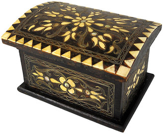 One Kings Lane Vintage Wood & Bone Folk Art Box - Acquisitions Gallerie