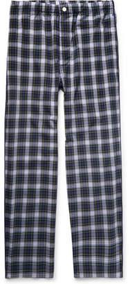 Sleepy Jones Lowell Checked Cotton-Poplin Pyjama Trousers