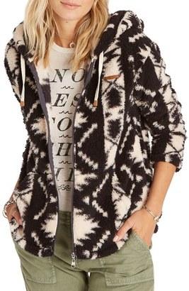 Women's Billabong Over Head Geo Print Fleece Jacket $64.95 thestylecure.com