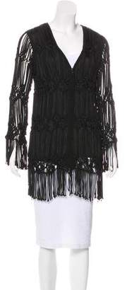 Giorgio Armani Fringe Long Sleeve Jacket