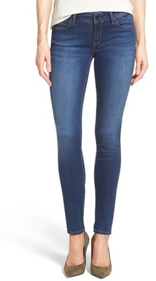Women's Mavi Jeans Gold 'Adriana' Stretch Super Skinny Jeans $148 thestylecure.com