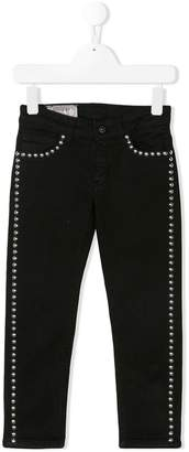 Dondup Kids studded slim fit jeans