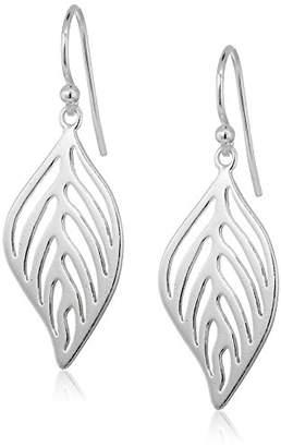 Sterling Filigree Leaf Drop Earrings