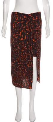 Helmut Lang Print Knee-Length Skirt