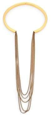 Delfine Draped Chain Collar Necklace
