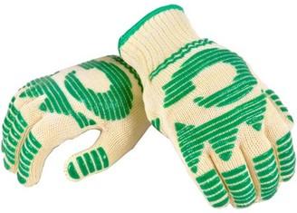 G & F Heat-Resistant Oven Gloves with Flexible 5-Finger Oven Mitt