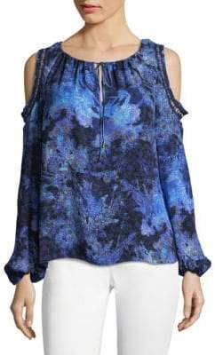 Elie Tahari Cathy Printed Silk Blouse