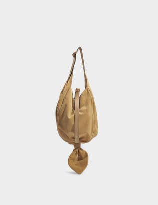J.W.Anderson Knot Hobo Bag in Gold Suede