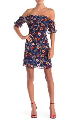 Cynthia Steffe CeCe by Faye Off-the-Shoulder Floral Print Dress