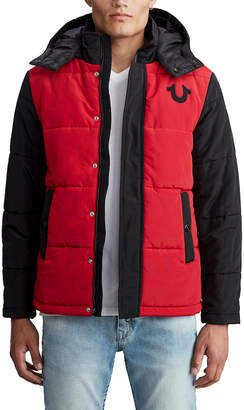 True Religion MENS HOODED PUFFER JACKET