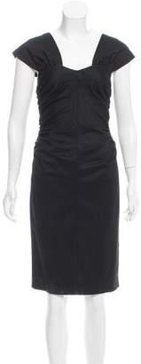 Robert Rodriguez Ruched Midi Dress