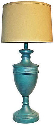 One Kings Lane Vintage Painted Brass Lamp - House of Charm Antiques