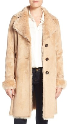 Women's Badgley Mischka Faux Shearling Lined Coat $379 thestylecure.com