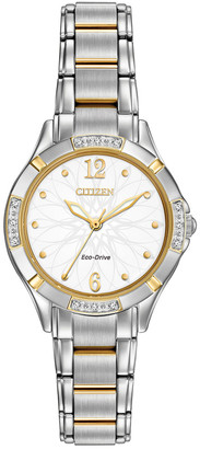 Citizen Women's Stainless Steel Bracelet Diamond Watch
