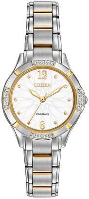 Citizen Women's Stainless Steel Bracelet Diamond Watch