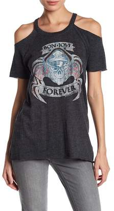 Chaser Bon Jovi Cold Shoulder Tee