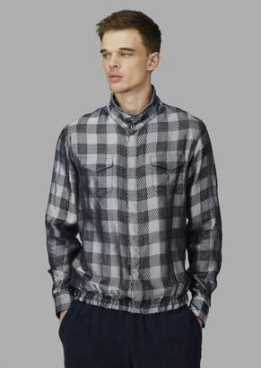 Giorgio Armani Patterned Jacquard Shirt With Pockets