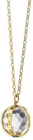 """Monica Rich Kosann Extra Large 18k Gold Carpe Diem Pendant Necklace, 30""""L"""
