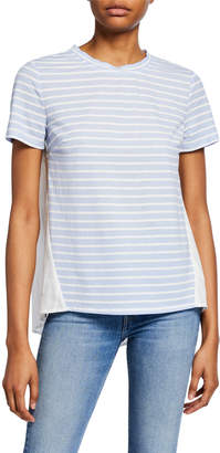 ENGLISH FACTORY Striped Knit Short-Sleeve Combo Tee