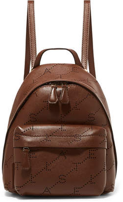Stella McCartney Mini Perforated Faux Leather Backpack - Tan