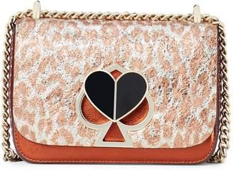 Kate Spade Nicola Leopard Print Leather Shoulder Bag