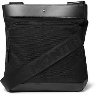 Montblanc Nightflight Leather-Trimmed Nylon Messenger Bag