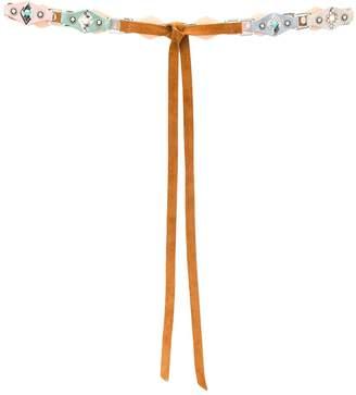 Orciani stone embellished tie belt