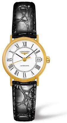 Longines Presence Automatic Leather Strap Watch, 25.5mm